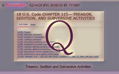 Qanon February 16, 2020 – Treason, Sedition, and Subversive Activities