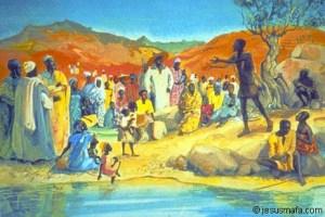 John the Baptist by Jesus Mafa