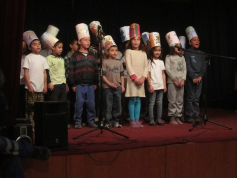 The annual Christmas program at the Kosice Roma school.
