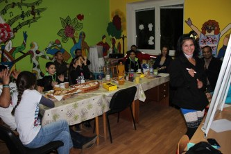 Our winter celebration for our Rankovce English classes included some Christmas carols and pictionary.