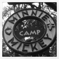 CAMP MINNIE & MICKEY, CAN WE? NO YOUR TOO OLD. SHUCKS!