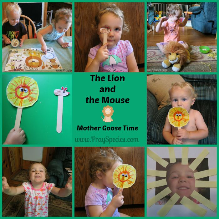 the lion and the mouse collage