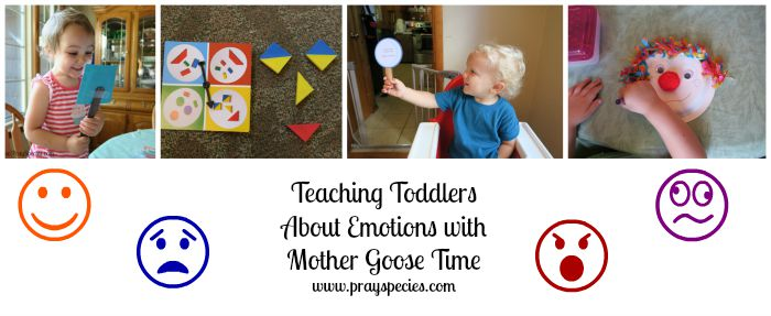 teaching toddlers about emotions collage