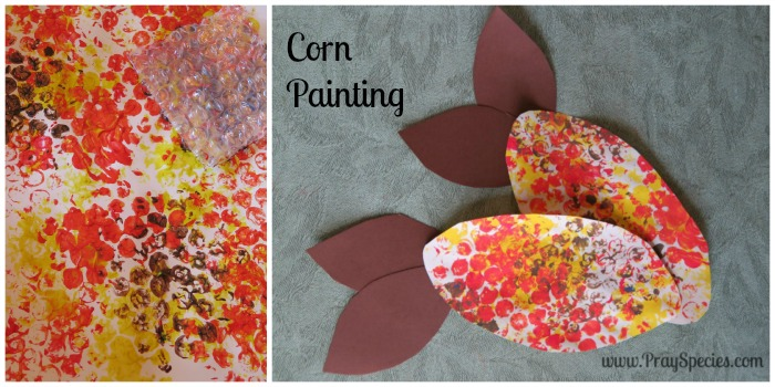 corn painting Collage