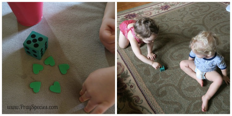 Counting Hearts with the Dice Collage