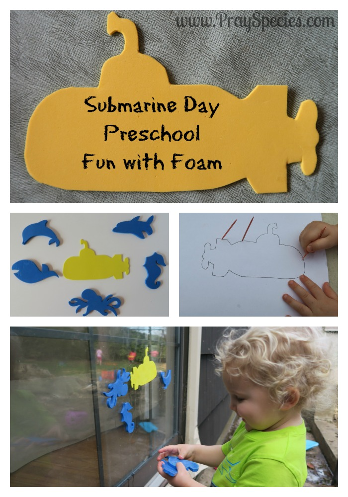The kids and I had a blast making and playing with these Submarine Day themed crafts! Submarine Day is March 17th.