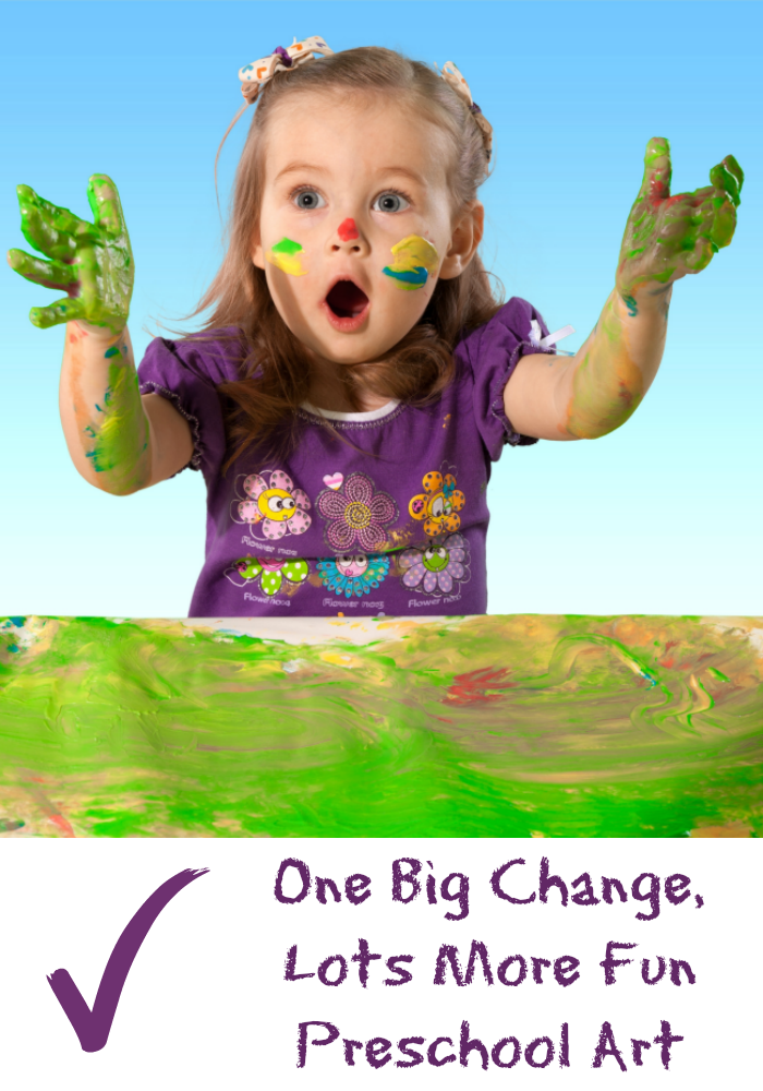 One Big Change Lots More Fun With Preschool Art