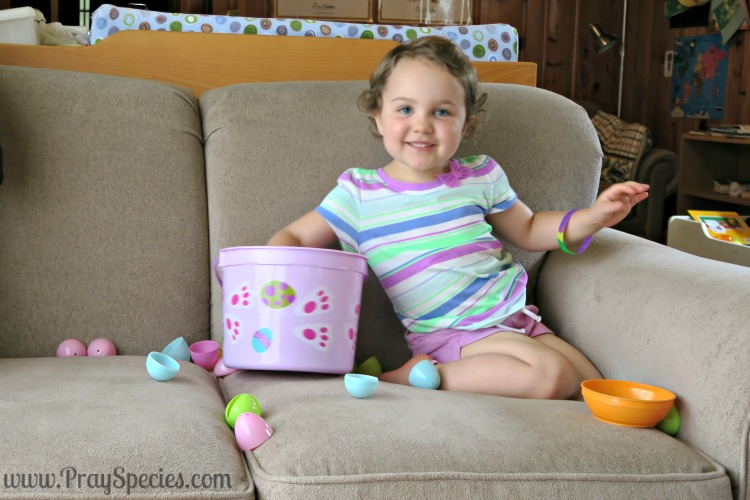 easter basket of eggs and ittys real smile