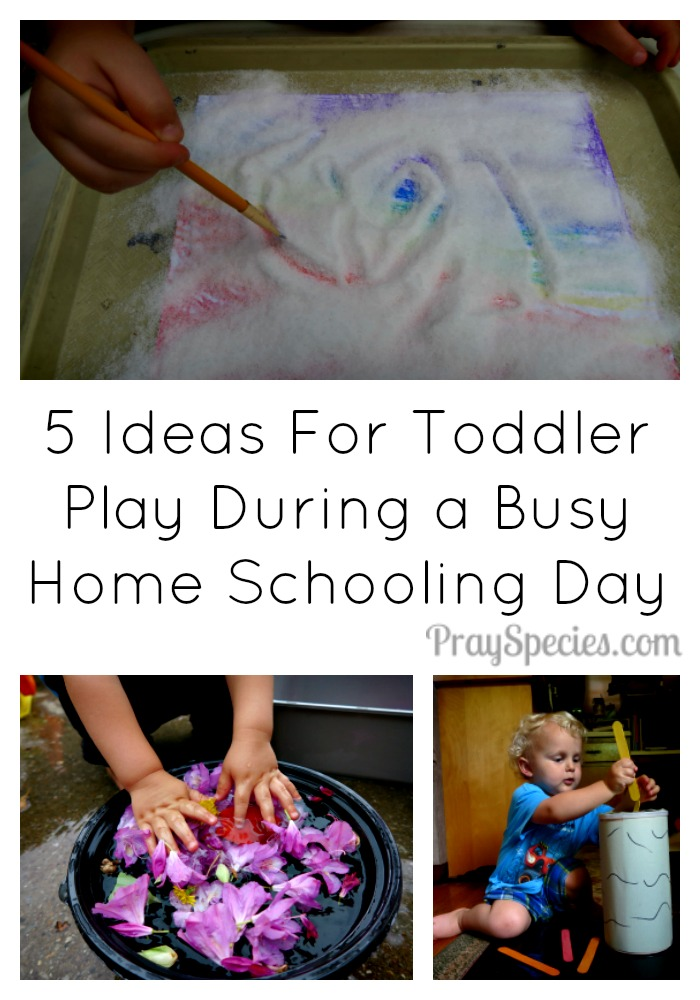 5 Ideas for Toddler Tray Play Collage