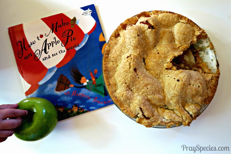 how to make an apple pie with kids and a book