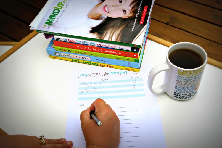 Loop Schedule Planning with Plan Your Year Home School Planner