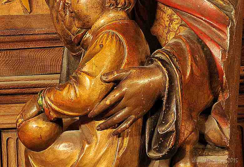 Hand of Mary around Jesus, Notre Dame du Pilier