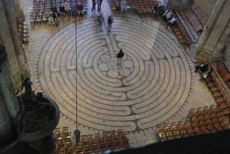 Labyrinth from the organ loft by Jill K H Geoffrion