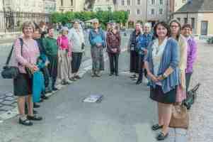 Women's pilgrimage group outside the west wall by Jill K H Geoffrion