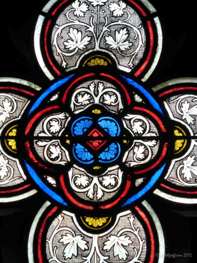 Grisaille Window, Vendôme Chapel by Jill K H Geoffrion