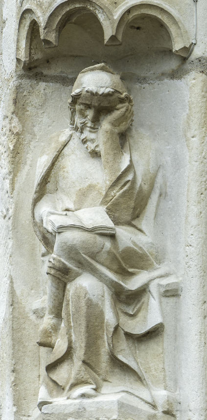 God contemplating the creation of the day and the night by Jill K H Geoffrion