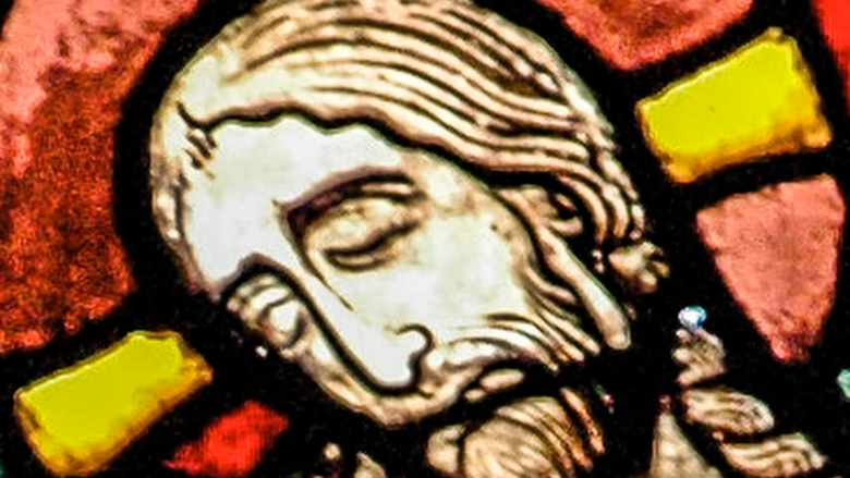 Jesus face in the Passion and Resurrection Window by Jill K H Geoffrion