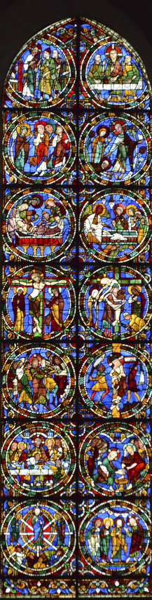 The Passion and Resurrection window by Jill K H Geoffrion