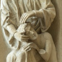 God Loves Adam Into Being  (Day 6 of Creation at Chartres)
