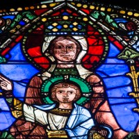 The Chartres Labyrinth and Mary (11) The Life of Christ Window