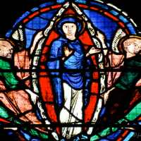 The Chartres Labyrinth and Mary (23) Glorification of Mary Window