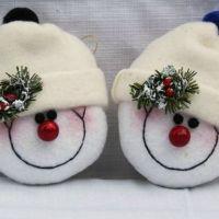 Праздничный декор своими руками: мастерим снеговиков (МК и идеи)