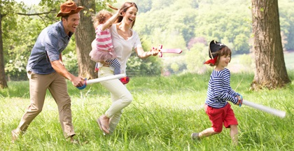 1 июня в день защиты детей родители проводят свое время с детьми