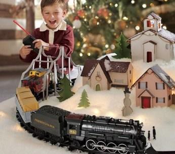 Подарок в виде железной дороги