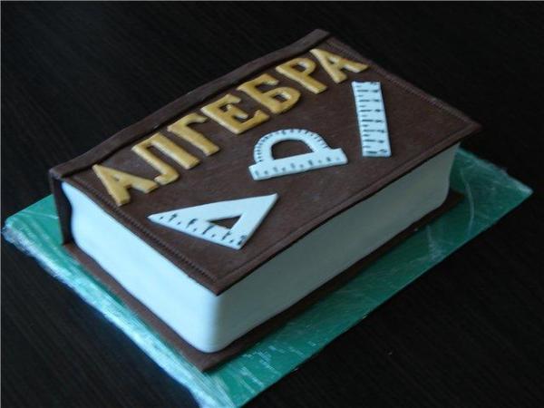 Торт в виде книги