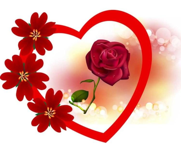 роза в сердце