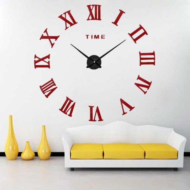 настенные часы с крупными цифрами