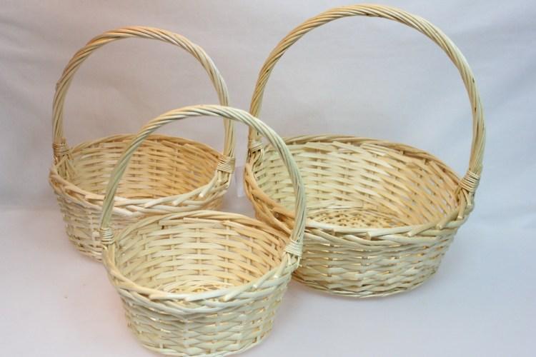 плетеные корзины для сада