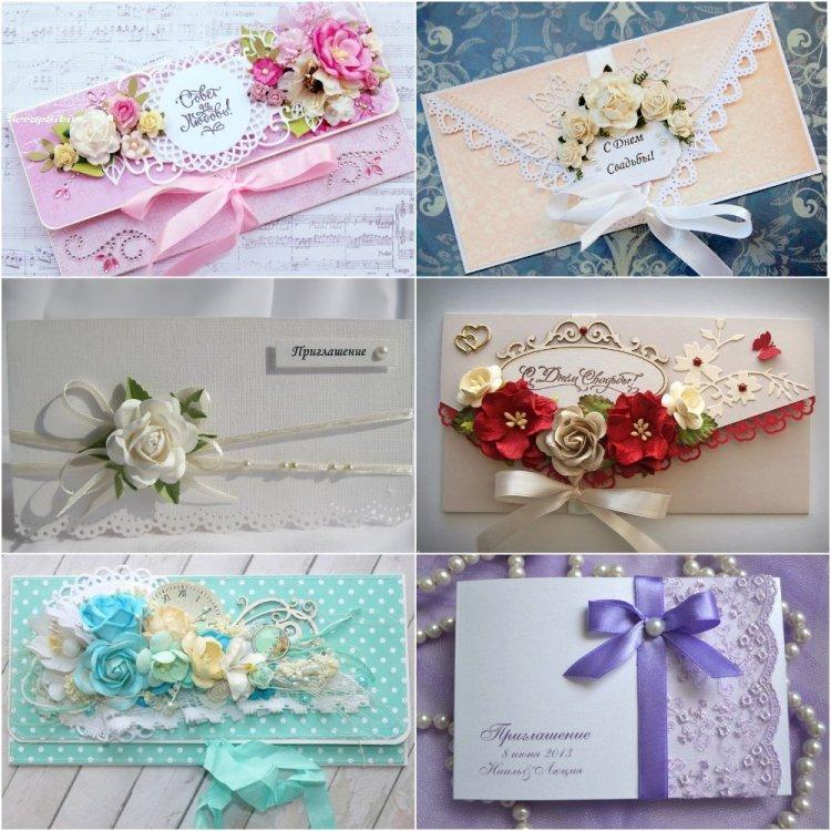 оформление конвертов на свадьбу