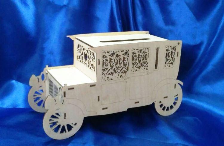 машинка-сундучок для денег на свадьбу