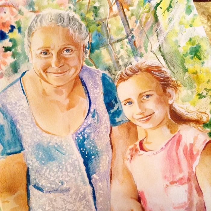 портрет бабушки и внучки