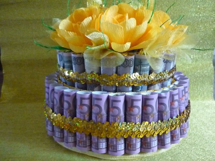денежный торт