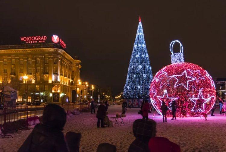 новогодняя елка в Волгограде