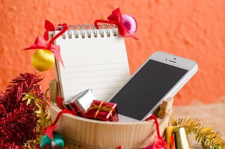 телефон на новый год