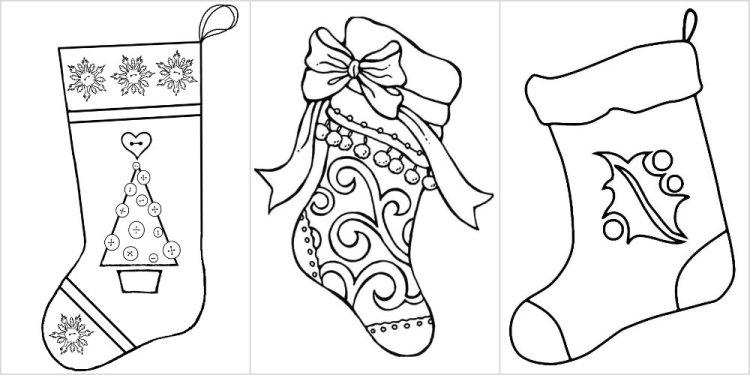 вытынанка новогодние носки