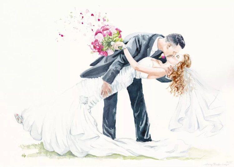 панорамная картинка для декупажа на свадьбу
