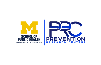 Co-branded logos for the University of Michigan School of Public Health and the CDC PRC Network