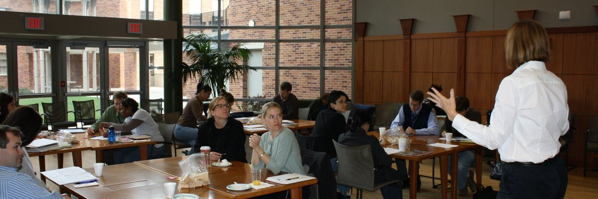 A photo of a training session held at the University of Michigan School of Public Health