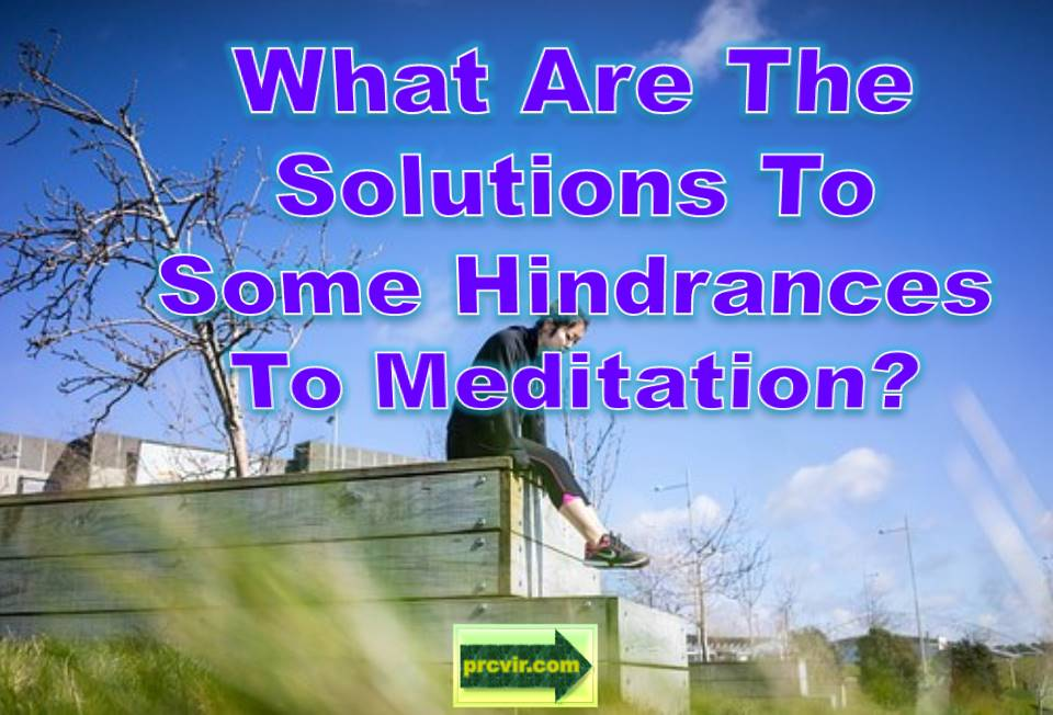 solutions to meditation
