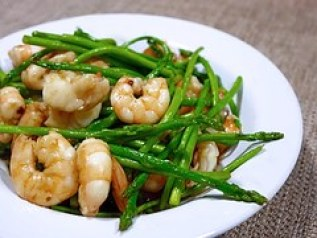 asparagus with shrimp