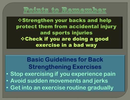 Back Exercise 1