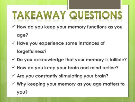 how maintain memory functions