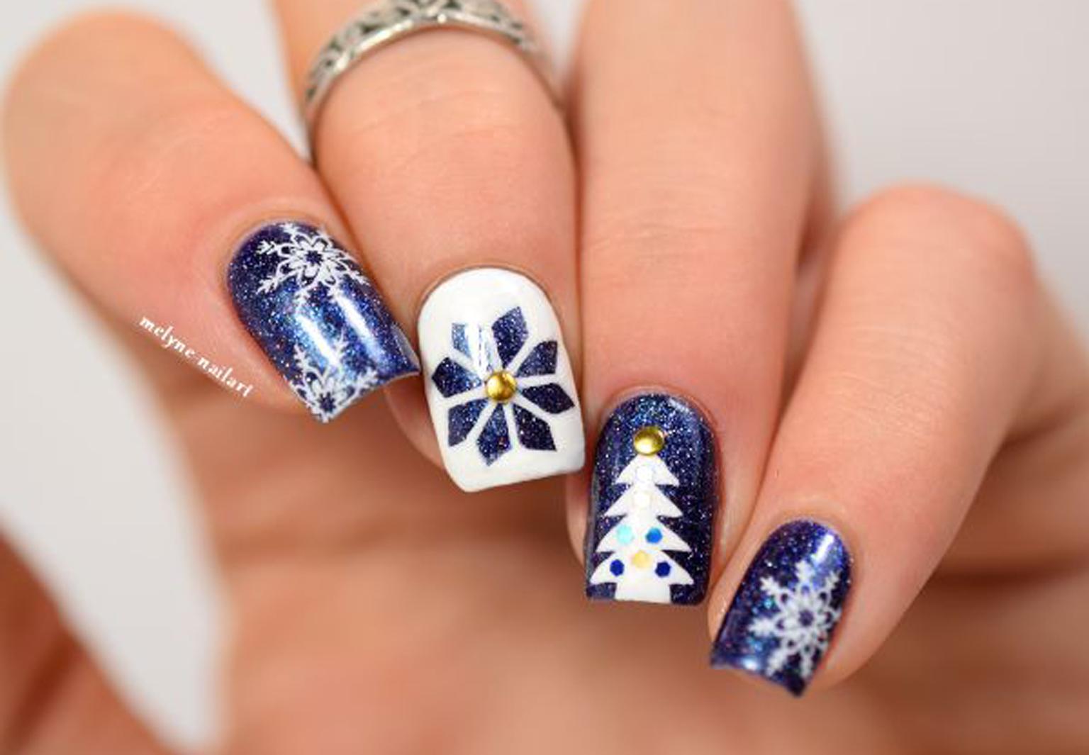 20 inspirations nail art pour noel femme actuelle