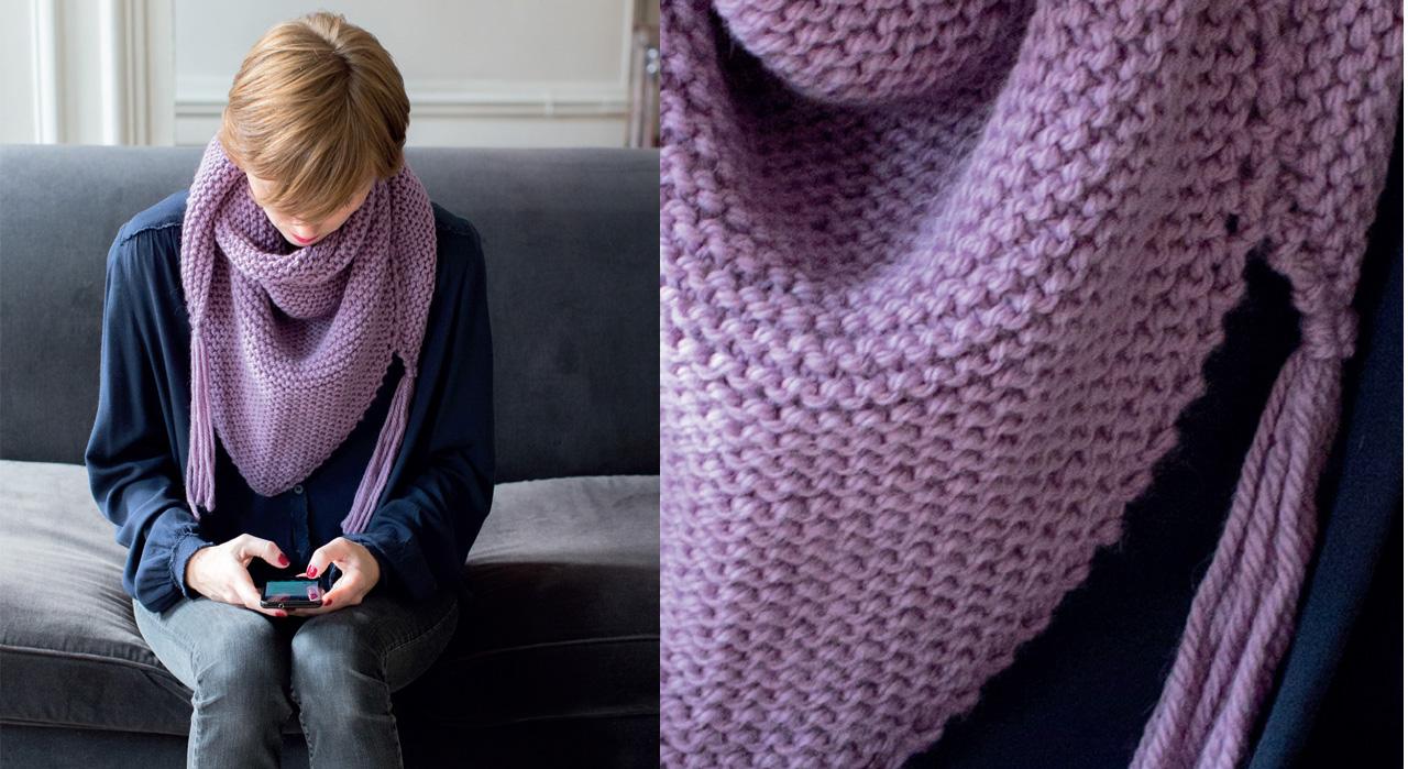 tricot nos modeles de chales et echarpes a faire soi meme femme actuelle
