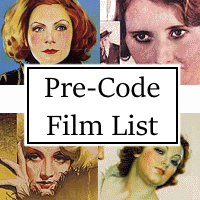 List of Pre-Code Hollywood Films