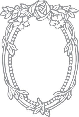 rose and oval frame